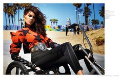 Cindy Bruna Sports Flashy Style at Venice Beach for French Revue de Modes