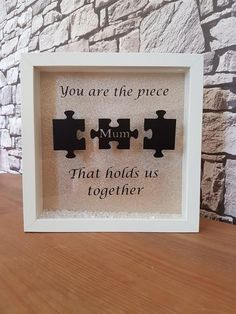 Personalised gift, personalise frame, mum gift, Mother's Day gift, jigsaw.