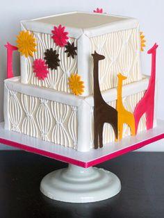 Giraffe Baby Shower Cake - Brooklyn Cake