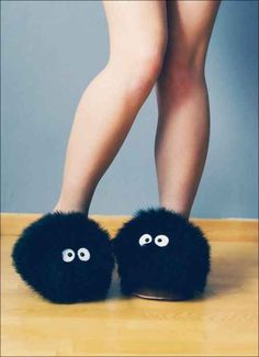 These soot sprite slippers ($9).