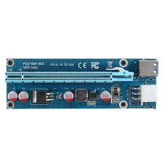 5Pcs USB3.0 PCI-E Express 1x To 16x Extender Riser Card Adapter SATA 15Pin-4Pin Cable Blue #Affiliate