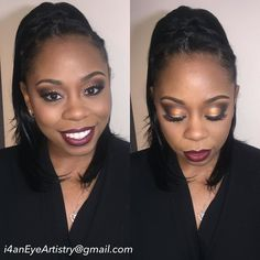 Bday glam for my friend @stilladyme_512 !! Thank you for trusting me with your makeup  #Mua #makeup #makeupartist #makeupmobb #makeupeducator #atlmua #atlantamakeupartist by i4aneyertistry