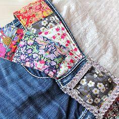 LIberty fabric belt by Nell Gleason