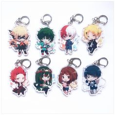 Your place to buy and sell all things handmade My Hero Academia Merchandise, Anime Merchandise, Hero Academia Characters, My Hero Academia Manga, Acrylic Keychains, Acrylic Charms, 16th Birthday Gifts, Cute Keychain, Cute Pins