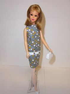 Vintage Barbie 1960s Mod Style Francie Twiggy Dress Hose Shoes Purse OOAK   eBay