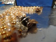 Rows of Pearls and 24kt spacer beads.