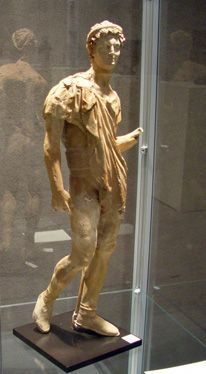 Greek terracotta statue,Alexander the Great or succesor,greek,Hellenistic Period,ca 4th century BC