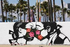A street-art piece by artist Pony Wave on Venice Beach in California. Art Grafite, Oncle Sam, Christ The Redeemer Statue, Chocolate Rabbit, Takashi Murakami, History Class, Venice Beach, Street Artists, Local Artists