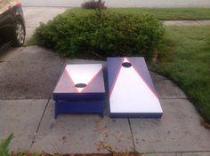 Triangle Design Cornhole / Bag Toss Boards
