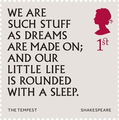 First Class stamps marking the 400th anniversary of the death of William Shakespeare