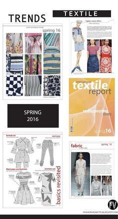 nice TRENDS // TEXTILE REPORT . SPRING 2016 - REDISCOVERING LINES... (FASHION VIGNETTE) Trend forecast
