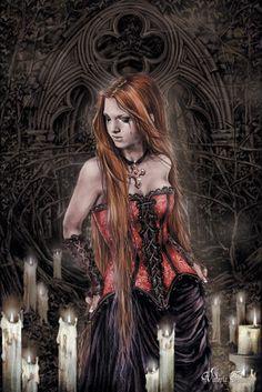"""Victoria Francés. Favole 1. Lágrimas de piedra. """"Tras el crepúsculo, el vampiro enamorado le ofreció como hogar su castillo, y celebró a medianoche una tétrica mascarada, cuyas melodías despertaron del fatigado sueño a la joven de cabellos cobrizos. Ezequiel nunca olvidará su expresión viva y exaltada en la madrugada de espectros ondulantes..."""""""