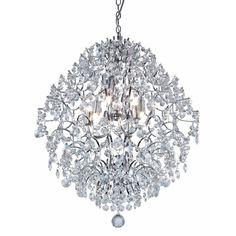 Ashford Classics Lighting Modern Crystal Chandelier Pendant Light in Chrome   2232   Destination Lighting