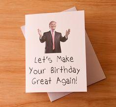 Happy Birthday Card Donald Trump groot weer kaart voor