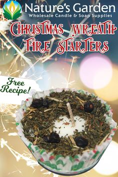 Free Christmas Wreath Fire Starters Recipe by Natures Garden.