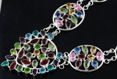 Awesome  Multi Gemstone Premium 925 Silver by SILVERISLAND2007, $32.99