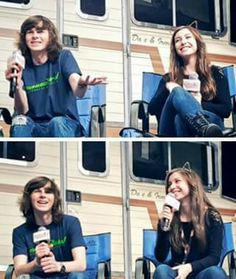 Chandler Riggs and Katelyn Nacon at Walker Stalker Atlanta on October 2015 Chandler Riggs, Carl E Enid, Katelyn Nacon, Walker Stalker, Aesthetic People, New Girlfriend, Carl Grimes, Young Actors, Fear The Walking Dead