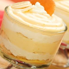 Light, creamy and bound to make the lips smack.. Homemade Banana pudding and whip cream Parfaits Recipe from Grandmothers Kitchen.