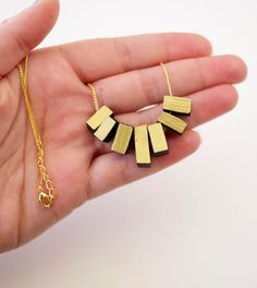 Wanna Wear: black gold dipped fringe necklace