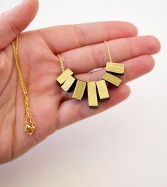 black gold dipped fringe necklace