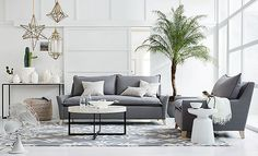 Metallic pillows. I love the west elm Pure Patterned Living Room on westelm.com/