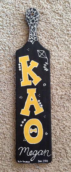 Kappa Alpha Theta sorority paddle I made my friend that goes to Purdue!