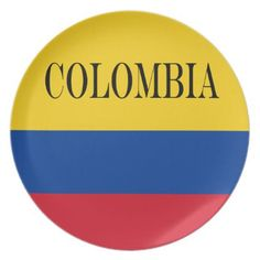 Flag of Colombia Bandera De Colombia Dinner Plate - kitchen gifts diy ideas decor special unique individual customized Colombia Flag, Custom Plates, Kitchen Gifts, Diy Ideas, Special Occasion, Cleaning, Dinner, Unique, Prints