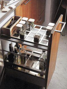 55 Smart Kitchen Organization Ideas You Should Try - EcstasyCoffee Kitchen Cabinet Drawers, Kitchen Drawer Organization, Kitchen Storage, Organization Ideas, Storage Ideas, Kitchen Cabinets, Storage Solutions, Drawer Ideas, Kitchen Organizers