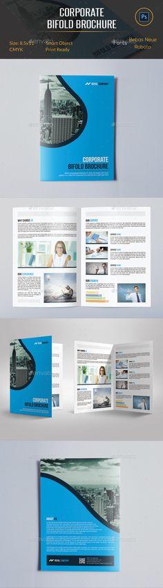 Corporate Bifold Brochure Template #print #design Download: http://graphicriver.net/item/corporate-bifold-brochure/11993447?ref=ksioks