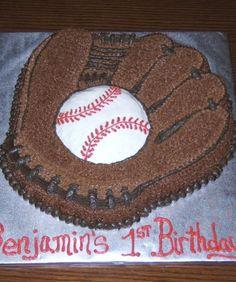 Bear Cake: 50 Amazing and Easy Kids' Cakes - mom. Baseball Glove Cake, Baseball Birthday Cakes, 15th Birthday Cakes, Birthday Fun, Baseball Cakes, Birthday Ideas, Birthday Parties, Easy Cakes For Kids, Cakes For Boys