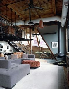 A little loft inspo! The West Loop Loft is designed by Scrafano Architects and is located in // Photo by Catherine Tighe - Architecture and Home Decor - Bedroom - Bathroom - Kitchen And Living Room Interior Design Decorating Ideas -