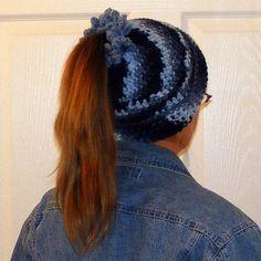 Ponytail Hats - For Your Ponytail! - CROCHET ༺✿ƬⱤღ✿༻
