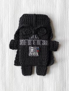 Pattern of darth vadar crochet iphone case on etsy