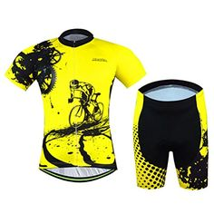 e498a8bac Amazon.com  Uriah Cycling Jersey and Shorts Sets Breathable Short Sleeve   Sports   Outdoors. Cheap cycle clothing ...