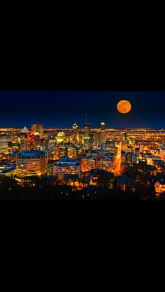 MTL Of Montreal, Full Moon, City Photo, Pictures, Harvest Moon, Photos, Blue Moon, Drawings