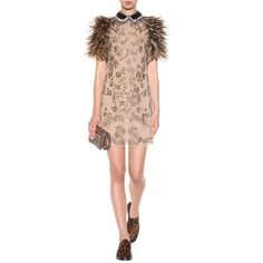 mytheresa.com - Bead-embellished dress with feathers - Short - Dresses - Clothing - Valentino - Luxury Fashion for Women / Designer clothing, shoes, bags