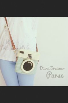 Crochet camera purse