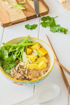 Gluten-free Soba Miso Soup with Chickpea Tofu Recipe