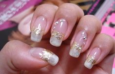 Diseños De Uñas Con Acrílico Diseño Francesas Oro Clic French Nail