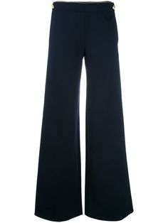ALBERTA FERRETTI buttoned laterals palazzo trousers. #albertaferretti #cloth #trousers