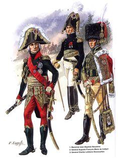 Maresciallo Béssière, generali de Colbert e Lefebvre-Desnouettes