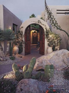Plus entry to courtyard. (from Phoenix Home & Garden…