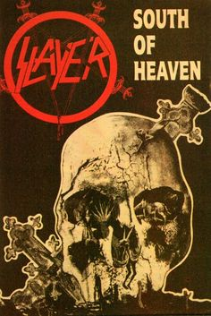 Slayer~ classic heavy metal psychedelic  rock music poster  ☮~ღ~*~*✿⊱  レ o √ 乇 !! ~