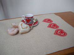 My Heart on the Table...Valentine's Day Table Runner by embrant