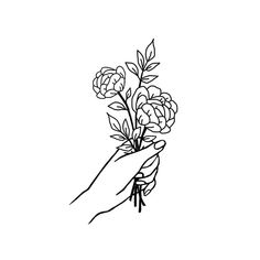 Decorate With Murals and Wall Tattoos Botanical Line Drawing, Botanical Tattoo, Drawing Sketches, Art Drawings, Tattoo Themes, Minimalist Drawing, Dream Tattoos, Wall Tattoo, Aesthetic Drawing