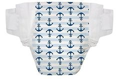 The Honest Company Size 1 Diapers (Anchors and Stripes) 8-14 Lbs - One Package of 44 Honest Diapers
