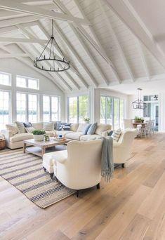 56 Gorgeous Farmhouse Living Room Design Decor Ideas Home | Justaddblog.com