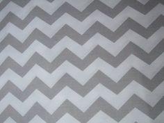 Tessuti stampati - Tessuto di cotone grigio zigzag chevron - un prodotto unico di tkaninoweLOVE su DaWanda
