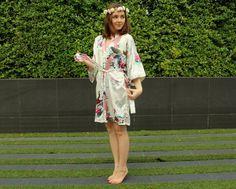 White Bridesmaid Robes, Satin Bridesmaid robes, Bridesmaid gifts, White kimono robe by noviame on Etsy https://www.etsy.com/listing/220095674/white-bridesmaid-robes-satin-bridesmaid