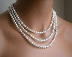 My mom did not have a wedding dress, but she did have Tiffany pearls.